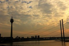 Dusseldorf skyline, Germany Royalty Free Stock Images