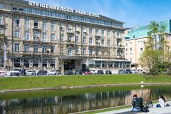 Dusseldorf Steigenberger Parkhotel stock photography