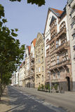 Dusseldorf Street along the Rhine Royalty Free Stock Images
