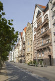 Dusseldorf Street along the Rhine Royalty Free Stock Photo