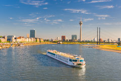 Dusseldorf  in a sunny summer day Stock Photos
