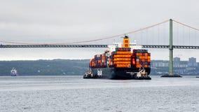 Dusseldorf Uitdrukkelijk in de Haven van Halifax stock afbeelding