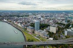 Dusseldorf van hierboven stock afbeelding