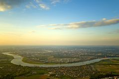 Dusseldorf vanaf de bovenkant Royalty-vrije Stock Afbeelding