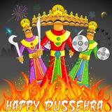 Dusshera Raavan Dahan. Illustration of Raavan Dahan for Dusshera celebration Stock Photo