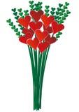 dussina hjärtor long en stem royaltyfri illustrationer