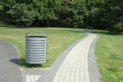 Dust bin in park Royalty Free Stock Photography