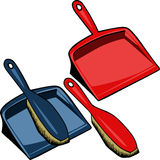 Dust brush and dustpan Royalty Free Stock Images