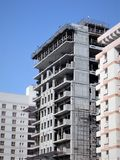 Residential building in construction. stock photography