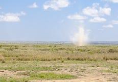 Dust Devil in Kenya Stock Photos