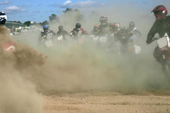 Dust and dirt. Moto cross action from massey ontario Royalty Free Stock Image