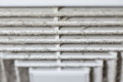 Dust and dirty airduct. Dust out from Air Duct, Danger and the cause of pneumonia in office man Royalty Free Stock Photo