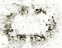 Dust and dirty surface for grunge background or texture. Frame made from soil and dirty on white background Royalty Free Stock Photo