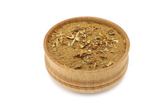 Dust of dried tobacco leaves Stock Photo
