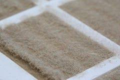 Dust on filter - macro Stock Photo