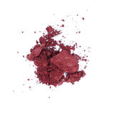Dust of a make-up face powder. Isolated over white stock images