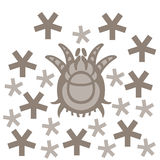 Dust mite vector illustration Stock Photo
