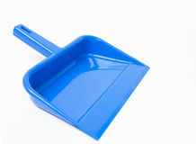 Dust Pan. A Blue dust pan as used in home Royalty Free Stock Image