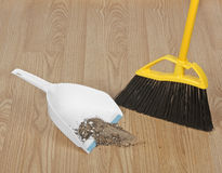 Dust Pan and Broom Royalty Free Stock Images