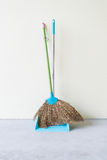 Dust Pan and Broom Royalty Free Stock Image