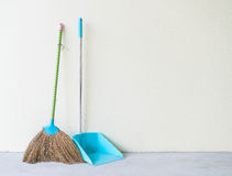 Dust Pan and Broom Royalty Free Stock Photography