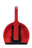 Dust pan with brush Royalty Free Stock Images