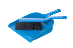 Dust pan and brush Royalty Free Stock Images