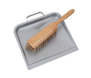 Dust pan and brush Stock Photos