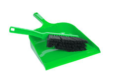 Dust pan and brush Royalty Free Stock Photo