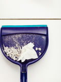 Dust pan with garbage. Royalty Free Stock Images
