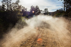 Dust on road Royalty Free Stock Image