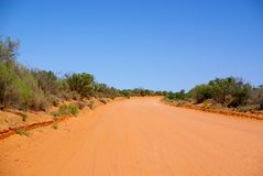Dust Road in Kinchega National Park Royalty Free Stock Image