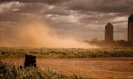 Dust sand road. For autosport Stock Photos