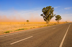 Dust storm Royalty Free Stock Photography