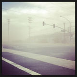 Dust Storm Across a Country Road Stock Image