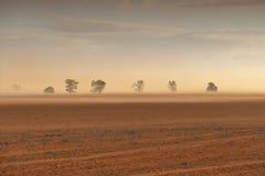 Dust Storm Australian Farm Royalty Free Stock Images