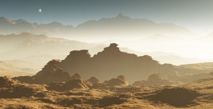 Dust storm on Mars Stock Images