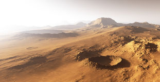 Dust storm on Mars. Stock Image