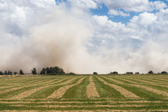 Dust storm in Surprise Valley, California Royalty Free Stock Photos