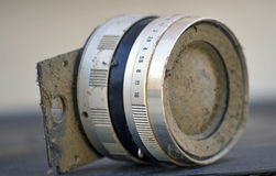 Dust on Vintage camera lens Royalty Free Stock Images