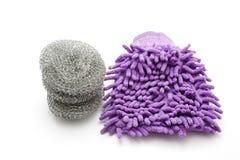 Dust Wiper with Steel Sponge Stock Photo