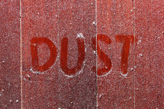 Dust on wooden floor Stock Photos