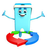 Dustbin Character with arrow Stock Images
