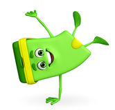 Dustbin Character with hand standing pose Stock Image
