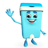 Dustbin Character with happy pose Stock Photos