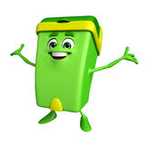 Dustbin Character with happy pose Royalty Free Stock Photos