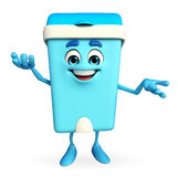 Dustbin Character with holding pose Royalty Free Stock Image
