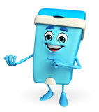 Dustbin Character with holding pose Stock Image