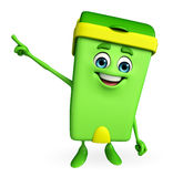 Dustbin Character is pointing Royalty Free Stock Photos