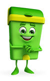 Dustbin Character with promise pose Stock Image